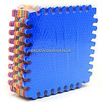 Игровой коврик-пазл EVA - массажный для детей, напольный, 9 шт, размер 30-30 см, ширина 9 мм (M 5735)