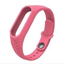 Ремешок рифленый для Mi Band 2 wristband Aurora anti-off Pink розовый оригинал Гарантия!