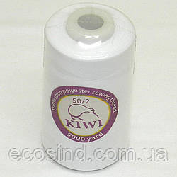 Нитки Kiwi (киви) швейные белые 50/2 5000ярдов (339-Kiwi-099)