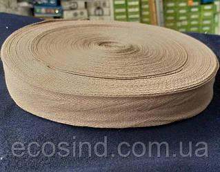 4 см Киперная лента (хлопчатобумажная, коричневая) - 50м. (653-Т-0513)