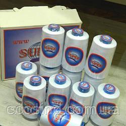 ОПТ от 120 шт (ящик) Нитки Super швейные белые 40/2 4000ярдов (6-2274-М-WO)