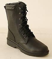 Ботинки утепленные с высокими берцами (юфть/кирза), (770-МІ)