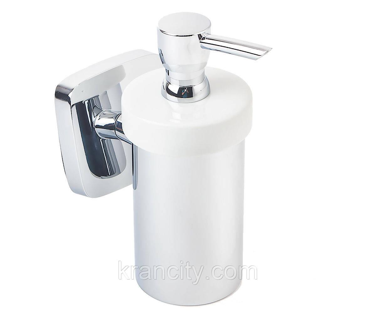Дозатор для мыла HANSGROHE PURAVIDA 41503000,диспенсер немецкий,матовое стекло