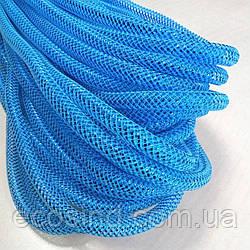 (28-30метров, D-10мм) Регилин трубчатый с люрексом. Цвет - голубой (657-Л-0494)