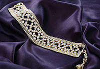Элитная женская бижутерия.Браслет свадебный,женский с камнями.
