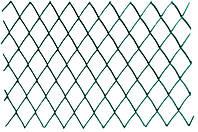 Сетка забор Клевер - 1,5 х 10 м (ячейка ромб 30 х 30 мм) зеленая