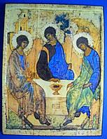 Икона Святая Троица. Олеография. Размер 110*140