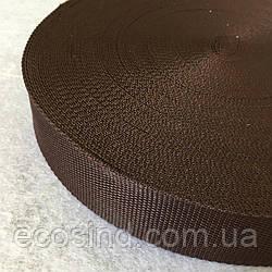 Стропа сумочная-ременная, 3,8см (бухта 50 ярд. шоколадная) (653-Т-0005)
