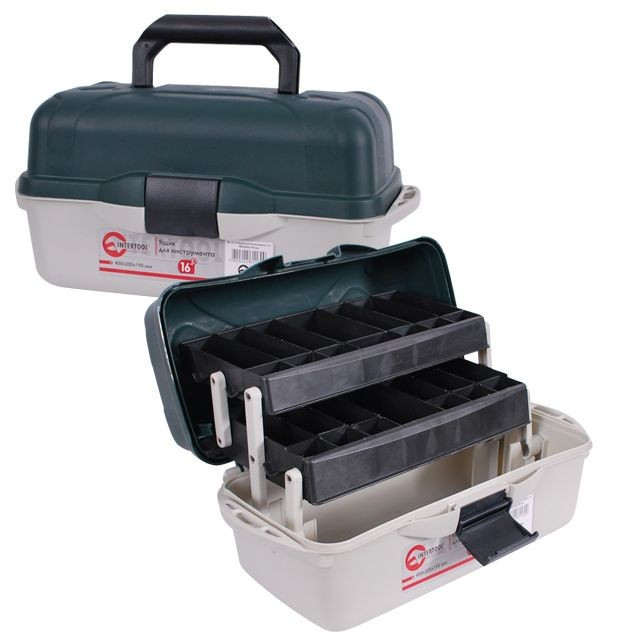 "✅ Ящик для инструмента, 16"" 400x205x190 мм INTERTOOL BX-6116"