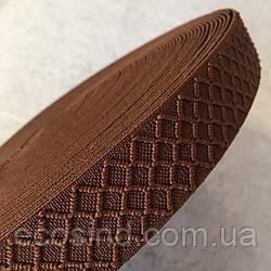 Гумка поясна - 3см/25ярд. коричневий (653-Т-0180)