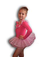 Купальник - пачка для гимнастики и танцев. Розовый. Rivage Line 0184LB