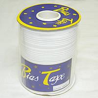Хлопковаякосая бейка,1,5см -  50%полиэстер (100м), цвет белый (657-Л-0046)