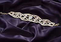 Браслет свадебный, женский ,с камнями в восточном стиле.