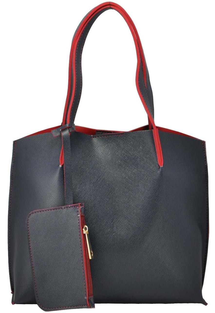 Женская сумка 35189 синяя с красным