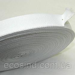 1,5 см Киперная лента (синтетическая, белая) - 50м. (653-Т-0508)