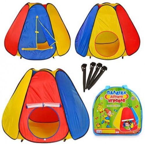 Палатка M 0506 пирамида 6 граней в сумке 144-244-104см