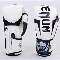 Перчатки боксерские PU на липучке VENUM BO-5698-W (реплика)
