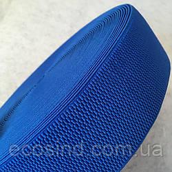 Резинка поясная, манжетная - 6см/25ярд. синий светлый (653-Т-0142)