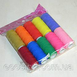 Нитка резинка 10шт., цветная (657-Л-0055)