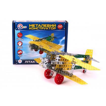 Конструктор металевий Літак-біплан ТехноК арт.4791, фото 2