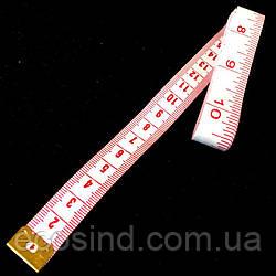 Сантиметр Швейный (дюймы + сантиметры)  длина 2м., белый (653-Т-0454)