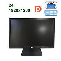"""LG 24MB65PY-B / 24"""" (1920x1200) AH-IPS LED / DVI, VGA, DP, USB hub, PC Audio / Встроенные колонки"""