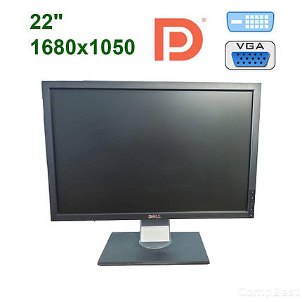 "Dell P2210 / 22"" (1680x1050) TFT TN / DVI, DP, VGA, USB 2.0, фото 2"
