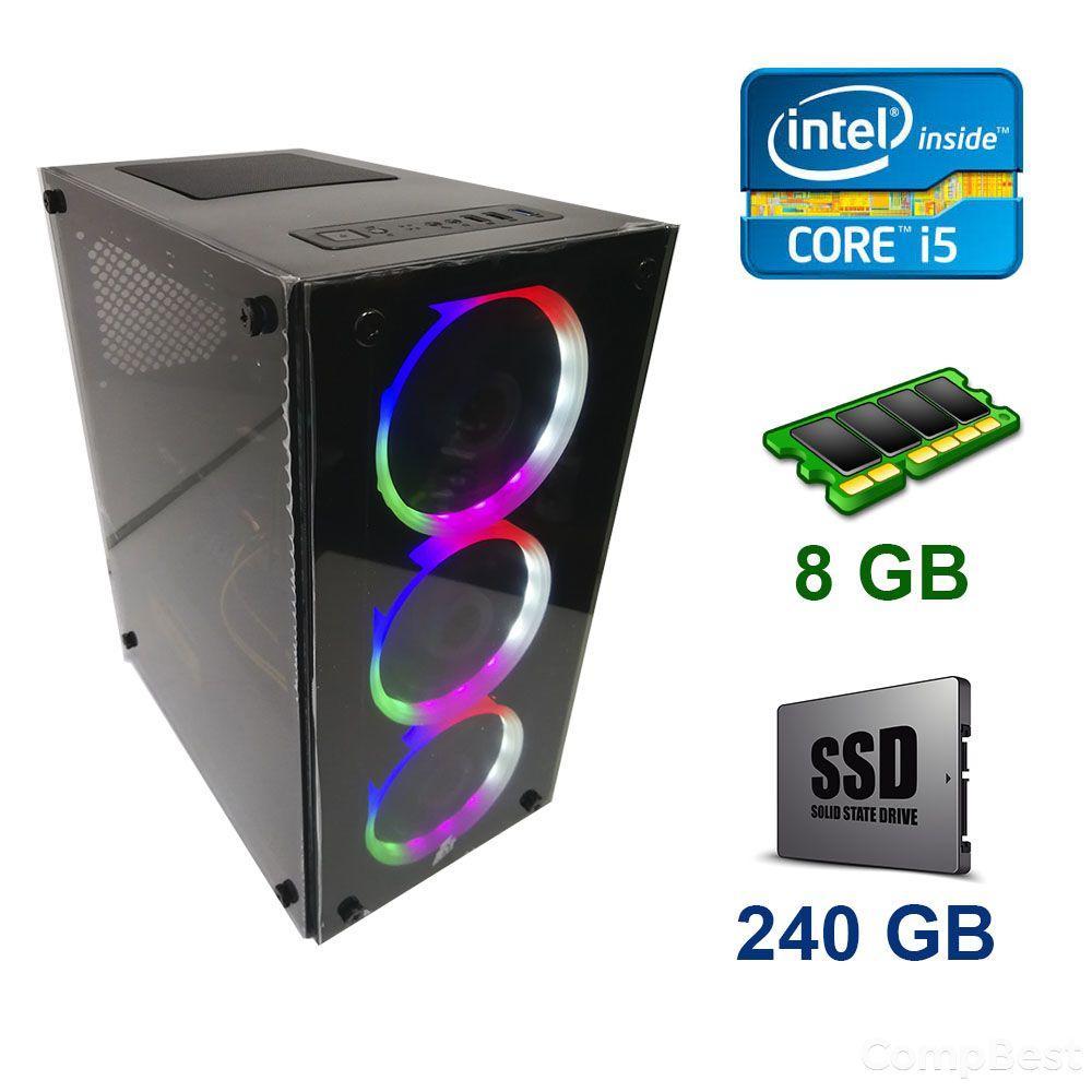 First Player ATX NEW /  Intel Core i5-4570 (4 ядра по 3.2 - 3.6 GHz) / 8 GB DDR3 / 240 GB SSD NEW / Блок питания 500W NEW