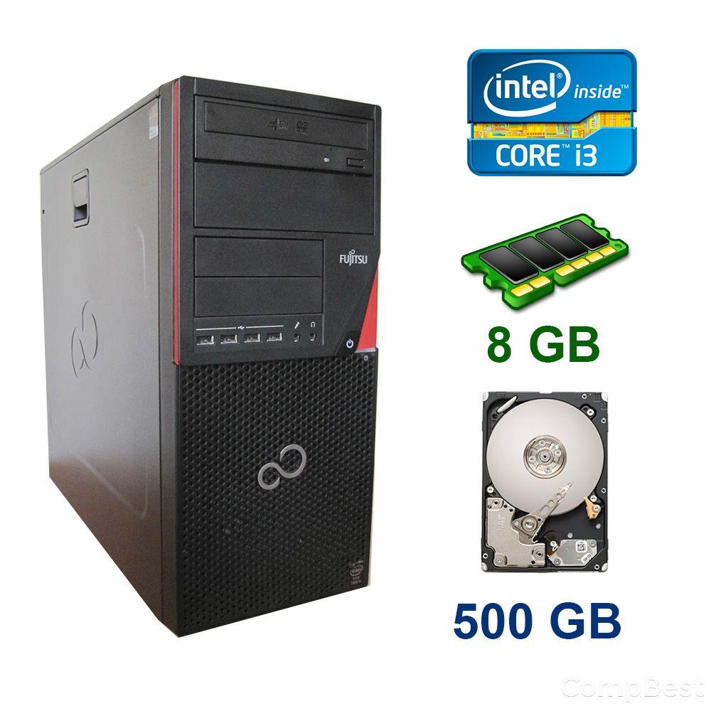 Fujitsu P720 Tower / Intel Core i3-4130 (2 (4) ядра по 3.40 GHz) / 8 GB DDR3 / 500 GB HDD / AMD Radeon RX 550, 4 GB GDDR5, 128-bit