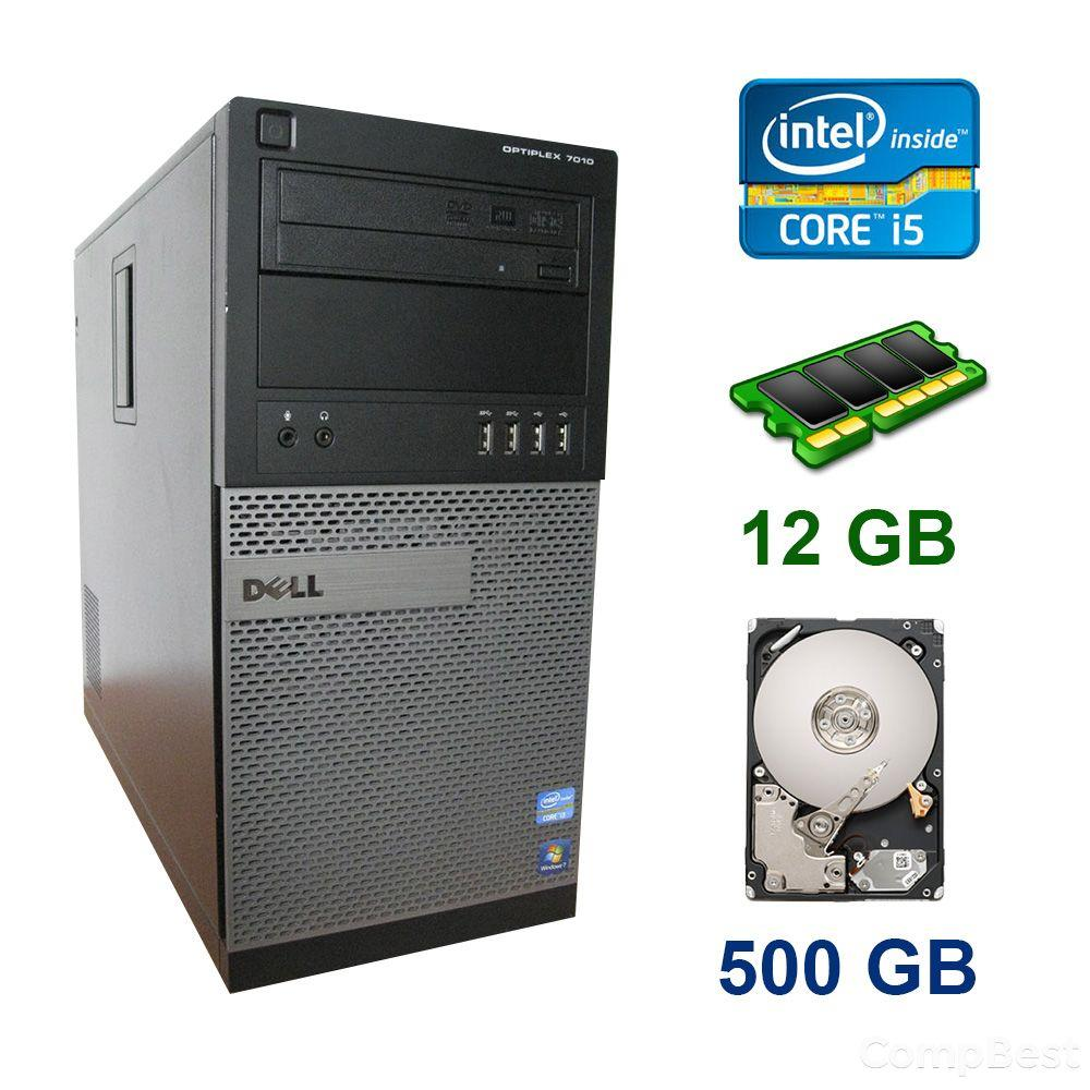 Dell Optiplex 7010 Tower / Intel Core i5-3570 (4 ядра по 3.4 - 3.8 GHz) / 12 GB DDR3 / 500 GB HDD / nVidia GeForce GTX 950, 2 GB GDDR5, 128-bit
