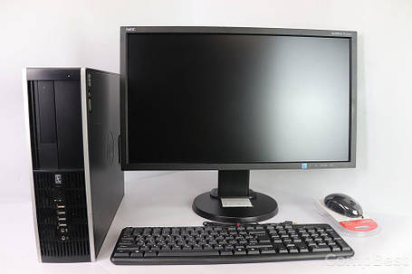 "HP 8000 SFF / Intel Core 2 Duo E8400 (2 ядра по 3.0 GHz) / 4 GB RAM / 160 GB HDD + NEC MultiSync E233WMi / 23"" (1920x1080) IPS / VGA, DVI, DP, 2x, фото 2"