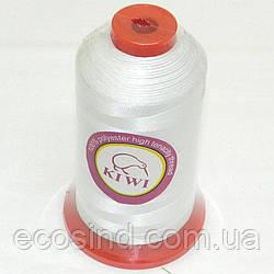 Нитки Kiwi (киви) повышенной прочности для обуви и мебели №40, белые (339-Kiwi-008)
