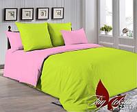 ✅ Двуспальный Евро комплект однотонного постельного белья (Поплин) TAG P-0550(2311)