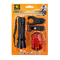 Фонарь вело+мигалка 5LED+2крепежа BL-8008-198