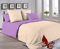 ✅ Двуспальный Евро комплект однотонного постельного белья (Поплин) TAG P-0807(3520)