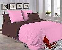 ✅ Полуторный комплект однотонного постельного белья (Поплин) TAG P-2311(1317)