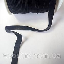 НА МЕТРАЖ Резинка черная для бретель, ширина 1см - ЧЕРНАЯ (657-Л-0622)