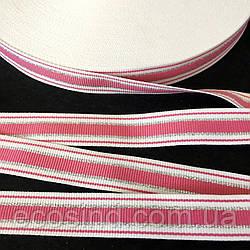 Лампасная репсовая лента (тесьма) с люрексом ширина 2см. на отрез кратно 1 м. - (БР) (6-БЛ-0004)