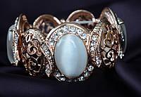 Восхитительный браслет на свадьбу с камнями,на резинке.
