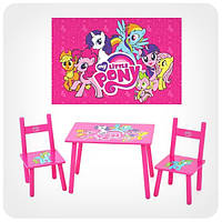 Детский столик с 2-мя стульчиками «Мои маленькие пони»