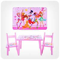 Детский столик с 2-мя стульчиками «Винкс / Winx»
