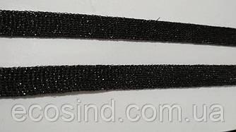 1см шнур 100м (черный с блеском)