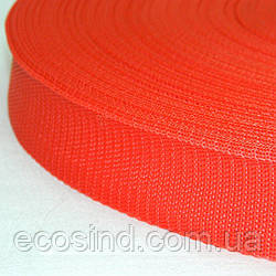 Стропа сумочная-ременная, 2,5см (бухта 50ярд.красная) (653-Т-0138)