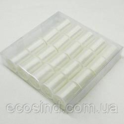 Мононить для бисера тонкая, белая 20 катушек (657-Л-0379)