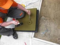 Монтаж резиновой плитки на грунтовое основание