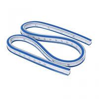 50см гибкая пластиковая линейка для измерения калибровочной линейки технической кривой (657-Л-0607)
