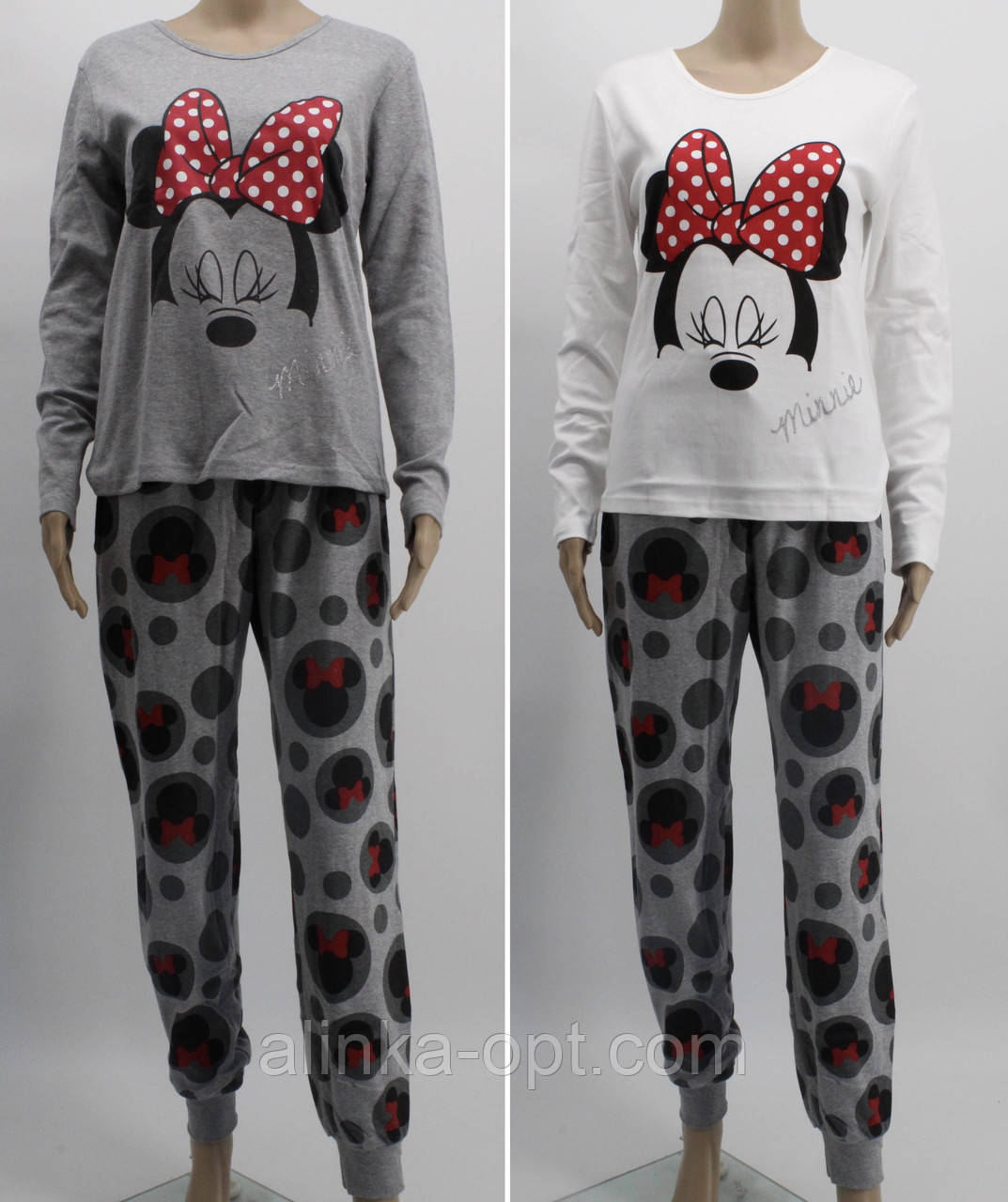 Пижама женская Disney оптом, S-XL рр. Артикул: MIN-G-PYJAMAS-525