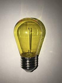 Светодиодная лампа желтая 1W A55 220Vв гирлянду Код.59712