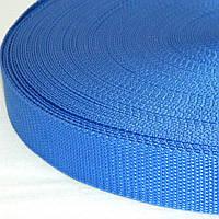 02- Синяя тесьма сумочная-ременная, 3см (657-Л-0586)