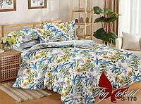 ✅ Двуспальный комплект постельного белья (Люкс-сатин) TAG S170
